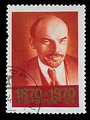 USSR - CIRCA 1970: A Stamp printed in USSR, shows old portrait of Vladimir Lenin, circa 1970