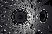 Wall of speakers.
