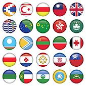Asiatic Round Flags