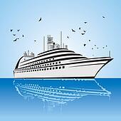Cruise Ship Clip Art - Royalty Free - GoGraph