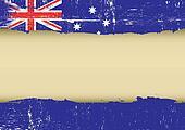 Australian scratched flag
