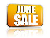June sale yellow banner