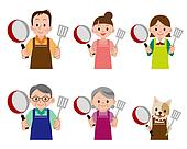 People and pets to cook