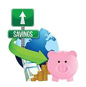 international economy savings concept