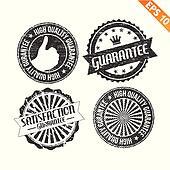 Label stitch sticker tag guarantee - Vector illustration - EPS10