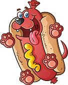 Hot Dog Pet Cartoon Character