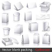 Vector blank packing collection