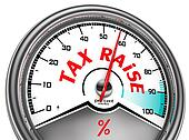 tax raise conceptual meter