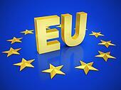 european union 3d illustration