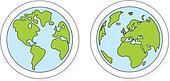 Vector world globe isolated planet