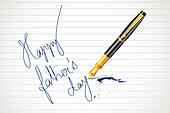 Pen writing Happy Father's Day message