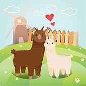 alpaca's couple