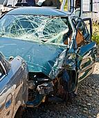 The car accident where the damage was huge