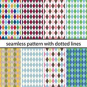 set seamless pattern with dotted