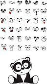 panda bear baby cute sitting cartoon