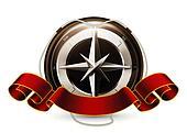 Compass Emblem, vector