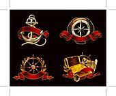 Marine Emblem set on black, 10eps