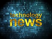 News concept: Technology News on digital background