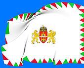 Flag of Budapest, Hungary.