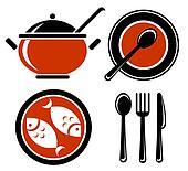 food symbols set