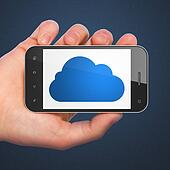 Cloud technology concept: Cloud on smartphone