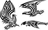 Tribal eagle, hawk and falcon
