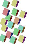 Background of squares and rectangle