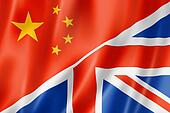 China and UK flag
