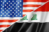 USA and Iraq flag
