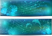 Abstract ocean blue background