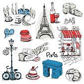 Paris Illustration Set - for design