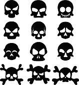 Skull symbol set