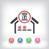 House alarm concept icon