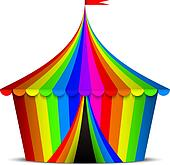 colorful circus tent
