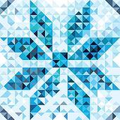 Seamless pattern of geometric snowf
