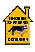 German Shepherd Door Sign.