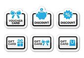 Voucher, gift, discount card vector