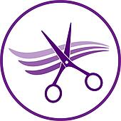 icon with hair and scissors