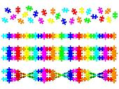 Colored DNA spiral from puzzle