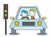 girl train drive car
