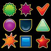 Shiny Templates for your Icons, Labels or Buttons