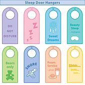 Sleep Door Hangers, Pastels