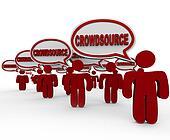 Crowdsource People Talking Wiki Workforce Working Together