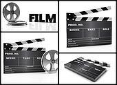 Cinema 3d collage