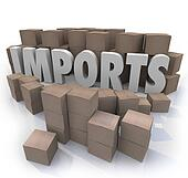 Imports Cardboard Boxes International Trade Warehouse
