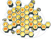 Social Media Bee Hive