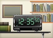 digital clock interior