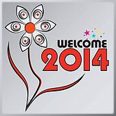 welcome 2014 illustration