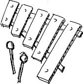 Xylophone Clip Art - Royalty Free - GoGraph
