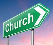 Church sign.